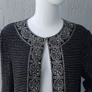 Laurence Kazar vintage Pure Silk Sequin Jacket